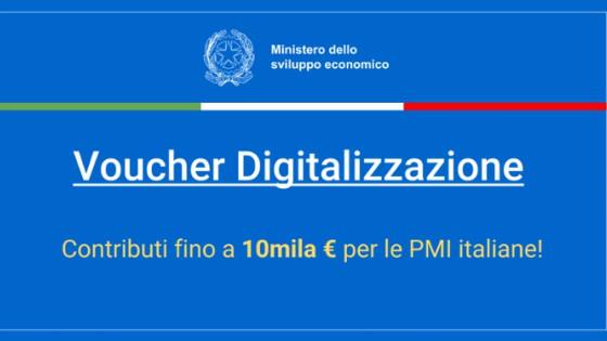 Voucher Digitalizzazione PMI 2018: software