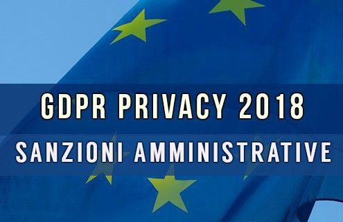 GDPR Privacy 2018 sanzioni amministrative
