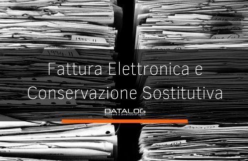 Fattura elettronica e conservazione sostitutiva