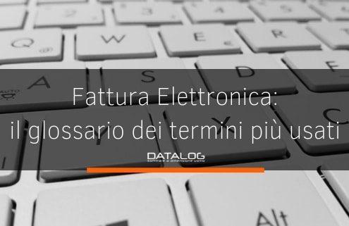 Fattura Elettronica il glossario