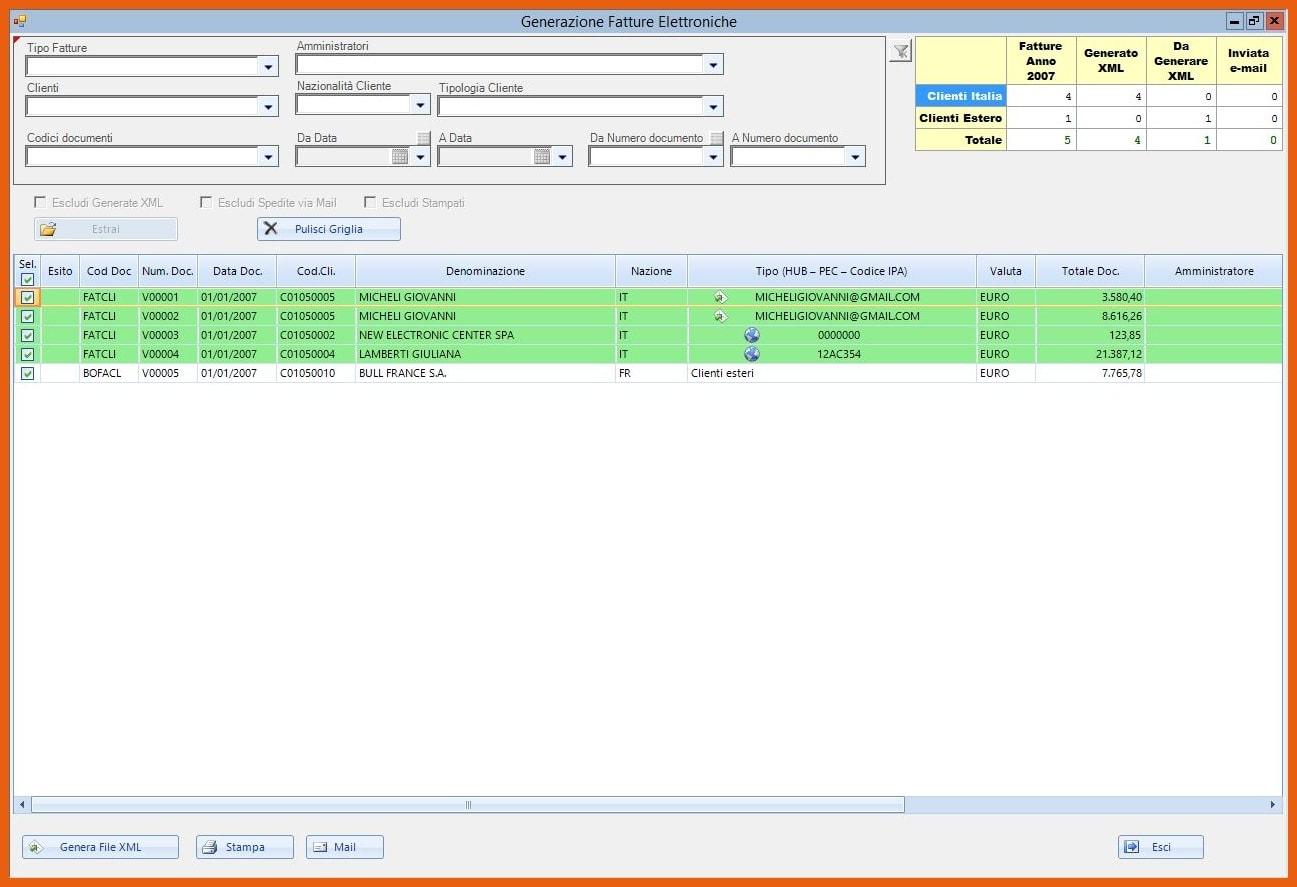 Software KING Fatturazione Elettronica Generazione file XML