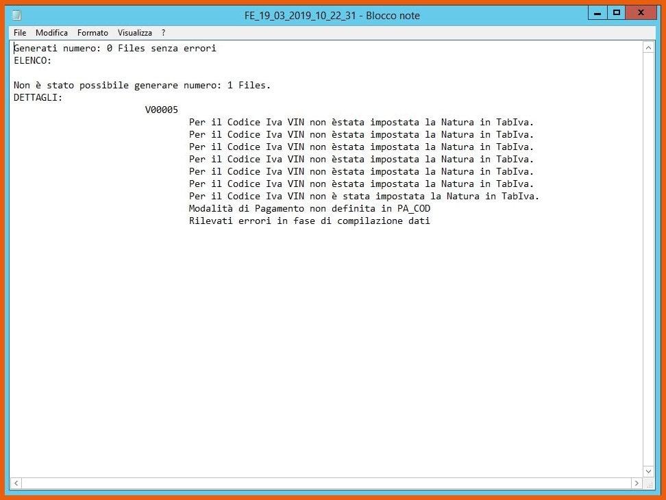 Software KING Fatturazione Elettronica Generazione file XML file di log