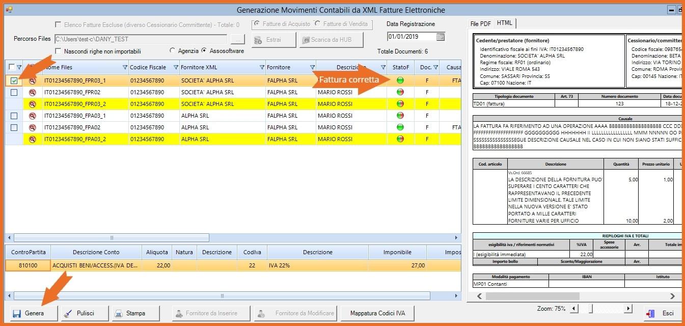 Software KING Fatturazione Elettronica Genera Prima Nota