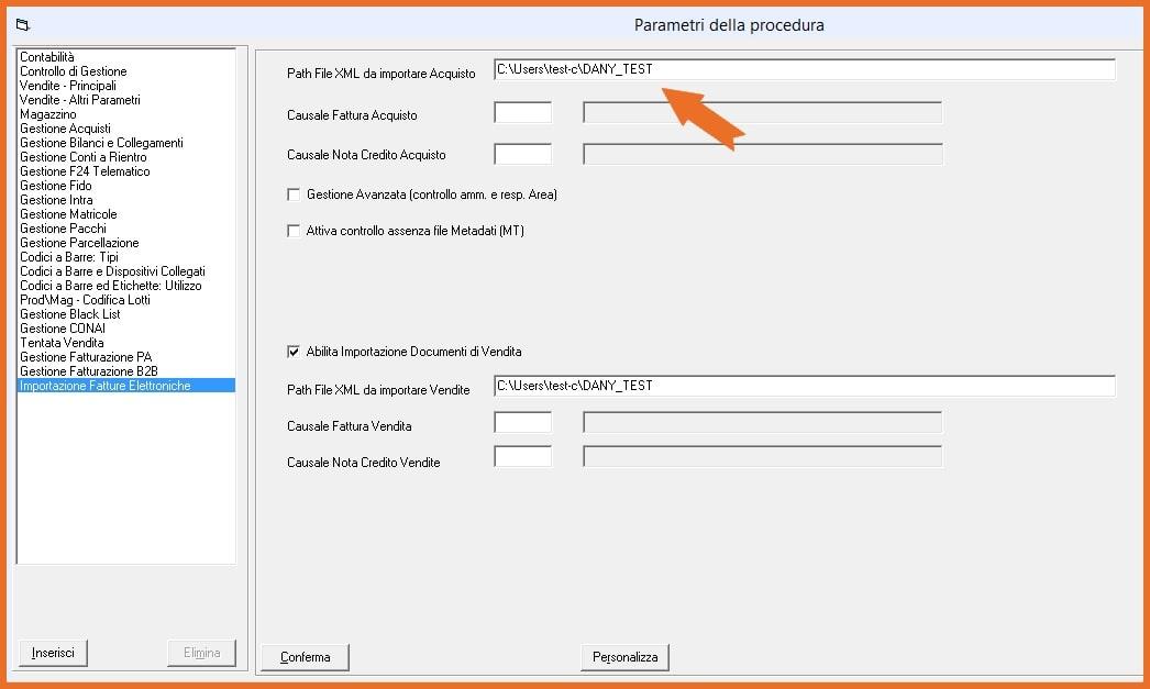Software KING Fatturazione Elettronica Tabella Importazione File XML B2B
