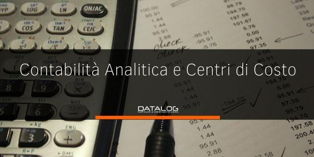 Contabilità analitica e centri di costo