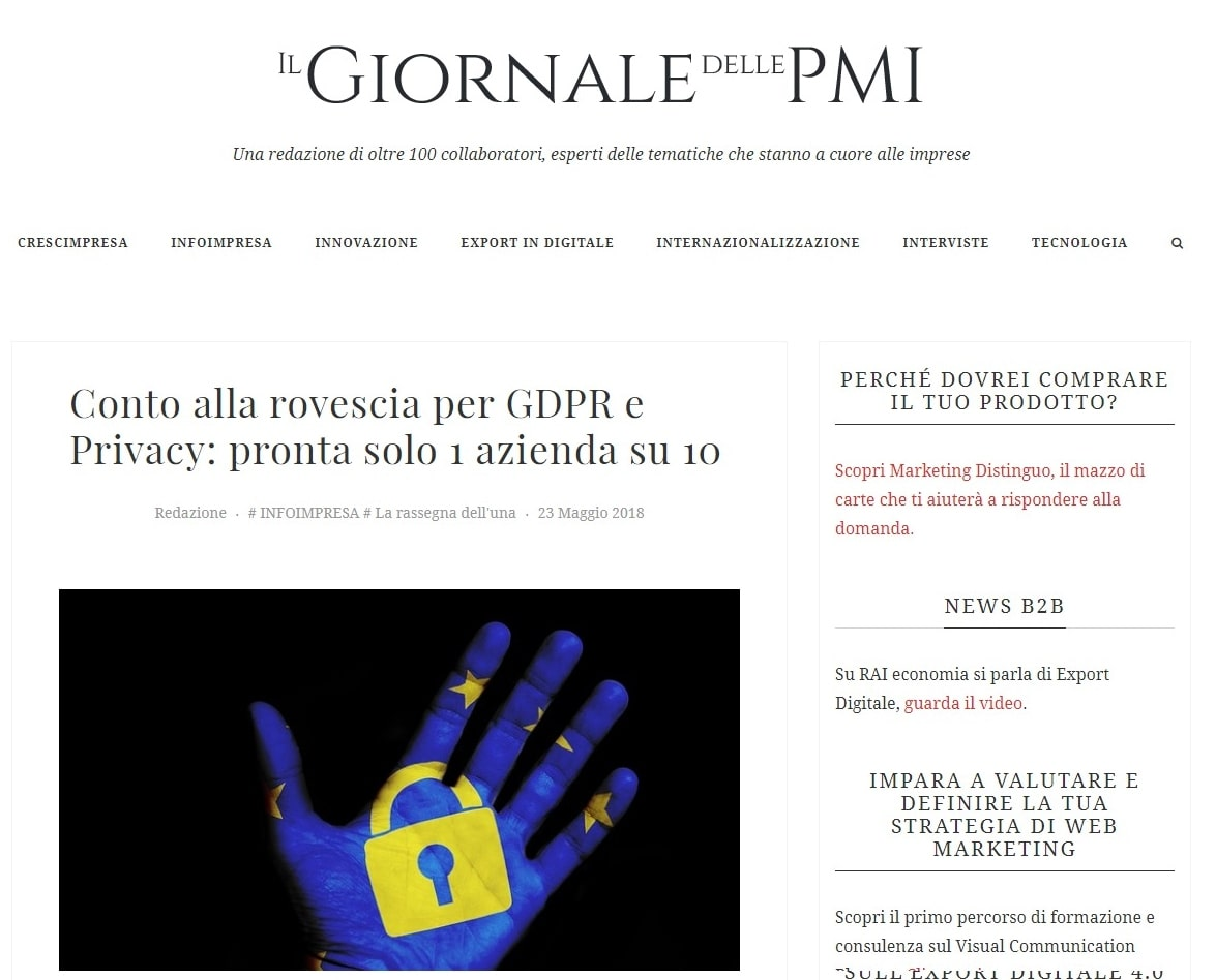 Datalog per le Aziende: GDPR e Privacy - Il Giornale delle PMI