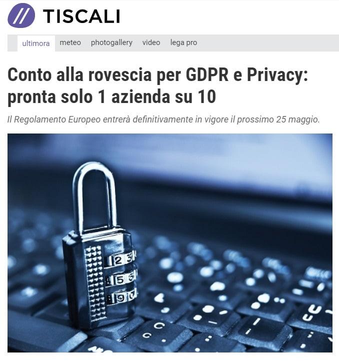 Datalog per le Aziende: GDPR e Privacy - Tiscali