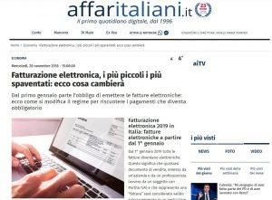 Fatturazione Elettronica Aziende - Affaritaliani
