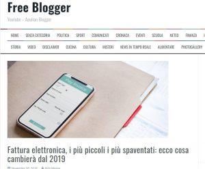 Fatturazione Elettronica Aziende - Freeblogger