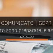 GDPR comunicato stampa