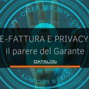 Fattura Elettronica e privacy: il parere del Garante sul Decreto Fiscale 2020