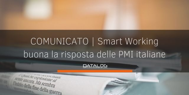 SMART WORKING comunicato stampa