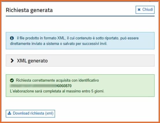 Corrispettivi Elettronici: richiesta massiva download file XML
