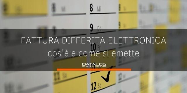 Fattura differita elettronica