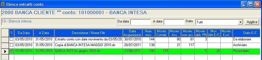 Software Datalog Riconciliazione Bancaria